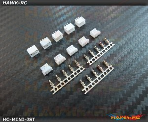 Mini JST Servo Plug Set (Male/Female 5 Sets) - 180CFX