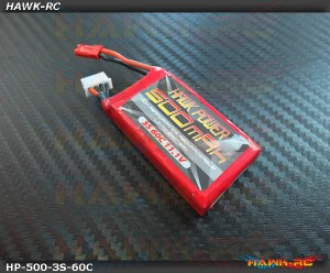 Hawk Power 3S 500mAh 60C 11.1V (180CFX)