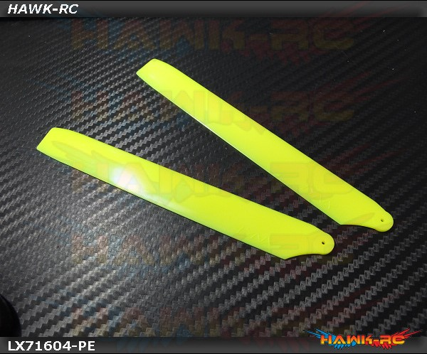 LYNX Plastic Main Blade 160 mm Yellow - Pro Edition -180CFX