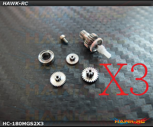 Hawk Creation Full Metal Servo Gears Combo (3 Servos) - Blade 180CFX