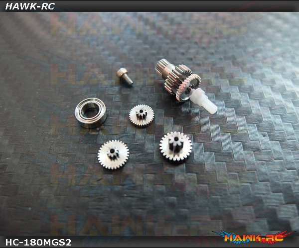 Hawk Creation Full Metal Servo Gears Kit (1 Servo) - Blade 180CFX