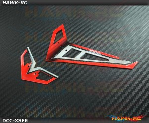 DC Airbrush Carbon Fiber Fins Set Passion Red - Gaui X3