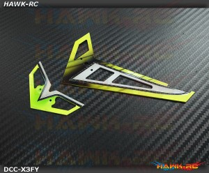 DC Airbrush Carbon Fiber Fins Set Honey Yellow - Gaui X3