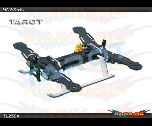 Tarot Q250A Mini 4-Axis Carbon Fiber Quadcopter Frame w/ PCB Board