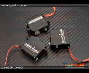 ServoKing DS-695P CCPM Servo Combo (3pcs)