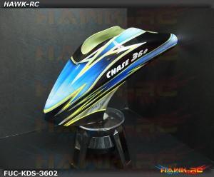 Fusuno Blue Samrock Airbrush Fiberglass Canopy KDS Chase 360