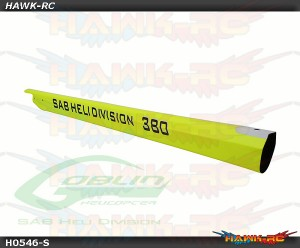 Carbon Fiber Tail Boom Yellow - Goblin 380