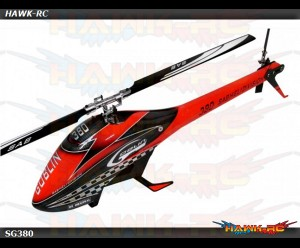 SAB GOBLIN 380 RED/BLACK (with 380mm Black Line Main Blades)
