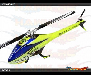 SAB GOBLIN 380 YELLOW/BLUE (with 380mm Black Line Main Blades)