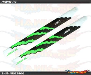 ZEAL Carbon Fiber Zeal Blades 380mm Energy (Green)