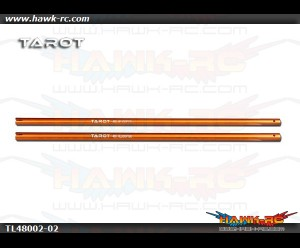 Tarot 450Pro/V2 Stretch Tail Boom (Orange, 2pcs)