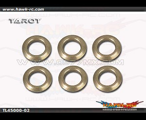 Tarot 450DFC Feathering Shaft Washers (Φ4xΦ6.5x1mm) (6pcs)