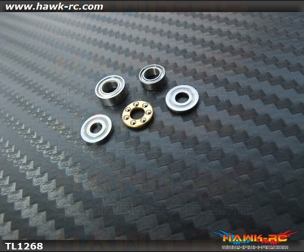 Tarot Bearing Set For Trex 450 Main Blade Grip (1 set)