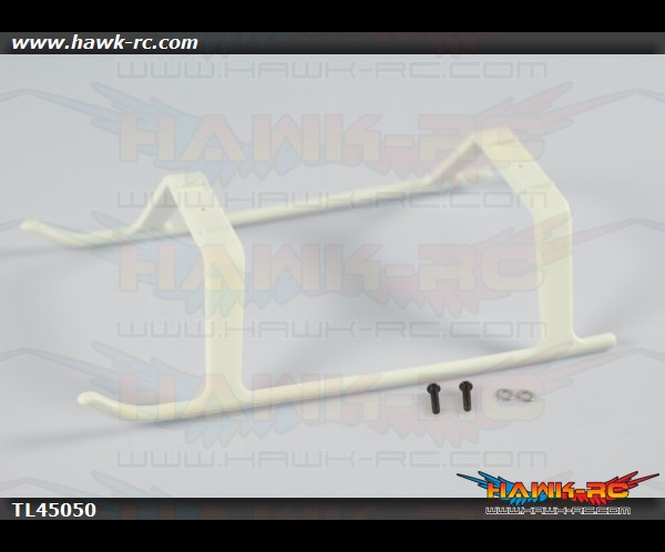 Tarot 450Pro/V2 One Piece Landing Skid (White)