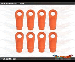 Tarot 600DFC Ball Link End (Neon Orange, 8pcs)