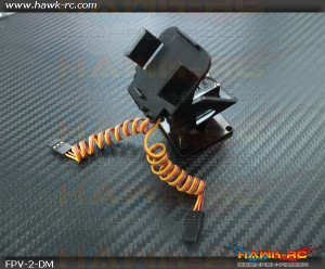 FPV Mini Camera 2-D (Pan & Tilt) Mounting Set Including Servos