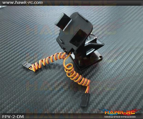 FPV Mini Camera 2-D (Pan & Tilt) Mounting Set Including Servos