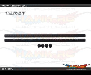 Tarot Φ10 3K Matte Pure Carbon Tube (280mm, 2pcs)