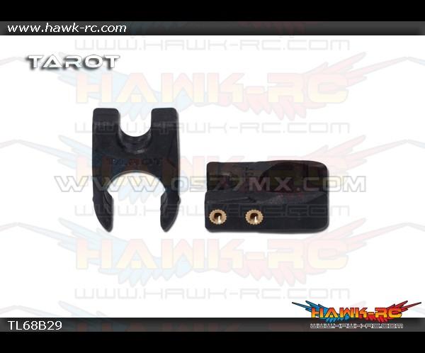 Tarot Φ16 Folding Positioning Seat Holder (2pcs, Black)