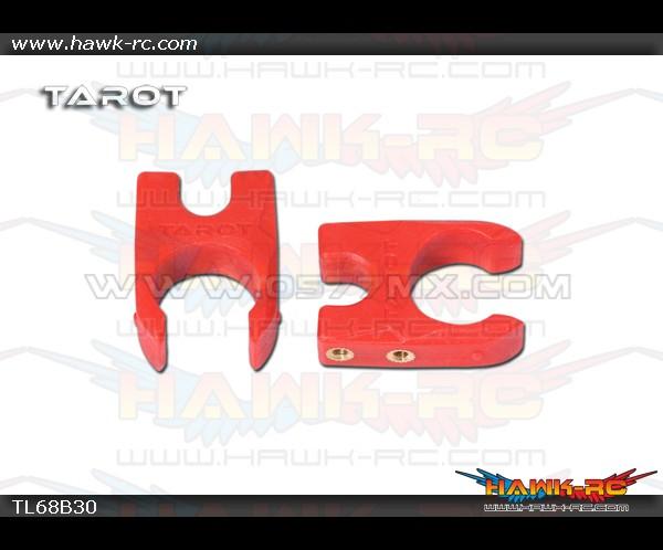 Tarot Φ16 Folding Positioning Seat Holder (2pcs, Red)