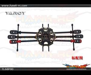 Tarot 680Pro Full-Foldable Hexacopter Carbon Frame