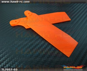 Tarot Stiffened Plastic Neon Orange Tail Blade 700 Size