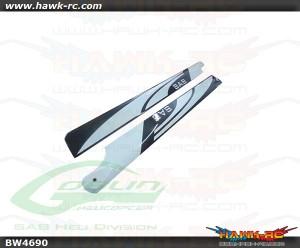 SAB 690mm Carbon Fiber Main Blades White - Goblin 700/700 Competition
