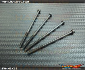 12.9 Class M3x65mm Tail Boom Lock Screw (4pcs) - Agile 7.2