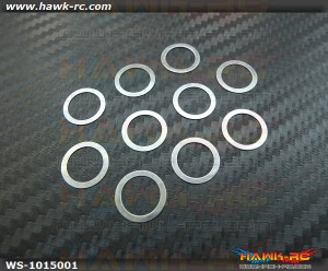 10x15x0.1mm Washer For Main Rotor (10pcs) - Agile 7.2