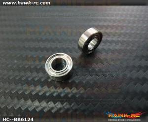 NMB MR126ZZ Ball Bearings 6x12x4 (2pcs, 60-6124) For WARP 360