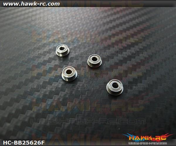 NMB F682XZZ Flanged Bearings 2.5x6x2.6 (4pcs, 61-2562) For WARP 360 / 180CFX (BLH3441)