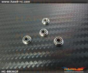 NMB MF63 Flanged Bearings 3x6x2 (4pcs, 61-3062) For WARP 360