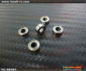 NMB MR84ZZ Ball Bearings 4x8x3 (5pcs, 60-4083) For WARP 360