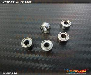 NMB MR684ZZ Ball Bearings 4x9x4 (5pcs, 60-4094) For WARP 360