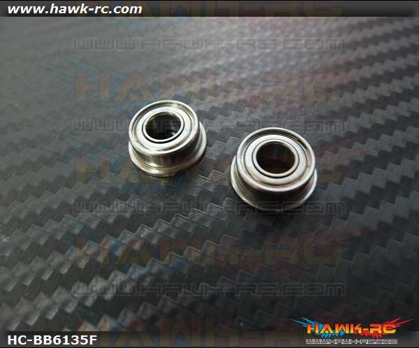 NMB SF686ZZ Flanged Bearings 6x13x5 (2pcs, 61-6135) For WARP 360