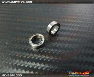 NMB MR128ZZ Ball Bearings 8x12x3.5 (2pcs, 60-8123) For WARP 360