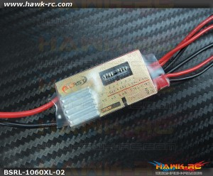 Burst Mini HV BEC w/Low Volt Alarm (3S~14S, 5.2~8.4V Output, 10A/20A)