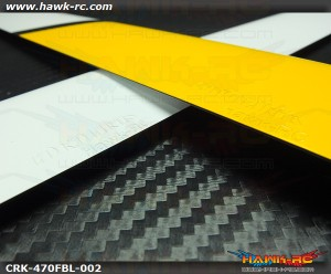 COROLIkits X Hawk-RC CF 470FBL Main Blade (Yellow-White)