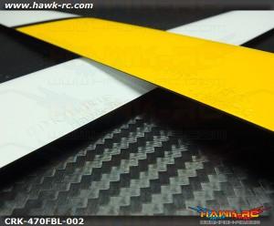COROLIkits X Hawk-RC CF 470FBL Main Blade (Yellow-White)