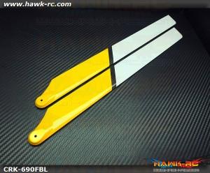 COROLIkits CF 690FBL Main Blade (Yellow-White)
