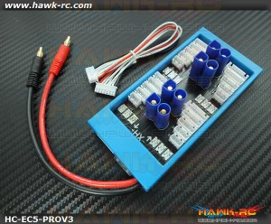 Hawk Creation Para Board V3 1-4 Parallel Charge Adapter EC5, 40A Fuse Protect