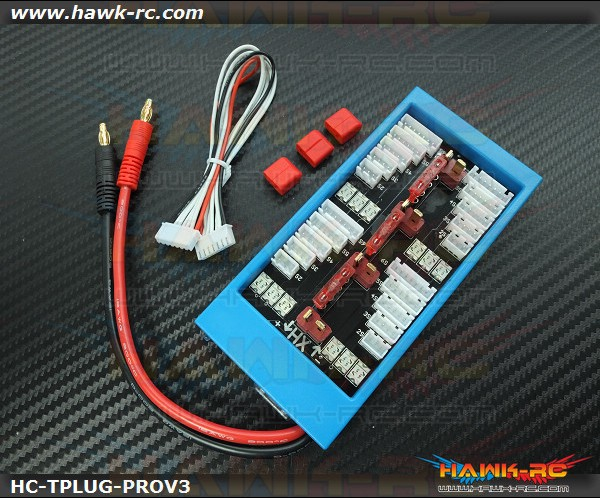 Hawk Creation Para Board V3 1-4 Parallel Charge Adapter T-Plug, 40A Fuse Protect