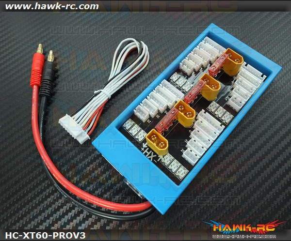 Hawk Creation Para Board V3 1-4 Parallel Charge Adapter XT-60 , 40A Fuse Protect