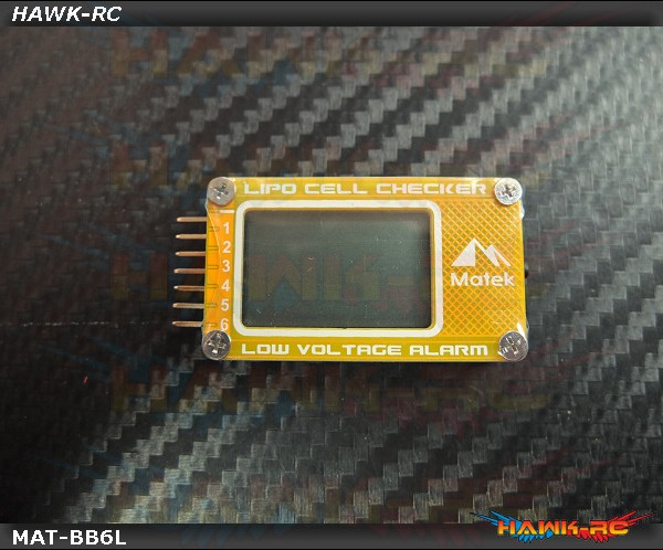 Matek 6S Lipo Wattage Checker (LCD Display, Alarm)