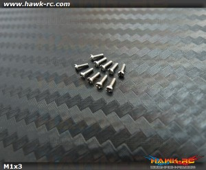 Hawk Creation M1x3mm Pan Head Stainless Steel Screws (10pcs)