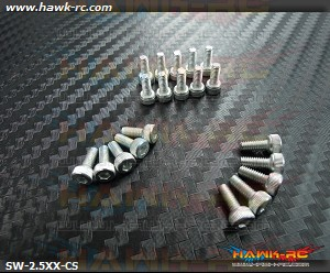 Hawk Chrome 12.9 Class M2.5*6 Hex Screws (20pcs)