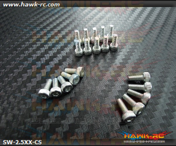 Hawk Chrome 12.9 Class M2.5*10 Hex Screws (20pcs)