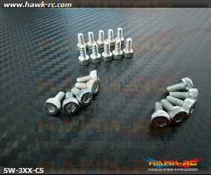Hawk Chrome 12.9 Class M3*14 Hex Screws (20pcs)