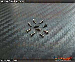 Hawk Creation M1.2x4mm Pan Head Stainless Steel Screws (10pcs)