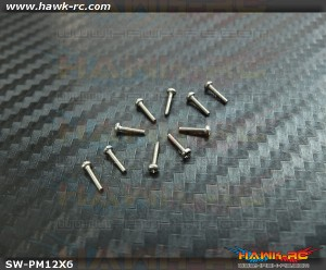 Hawk Creation M1.2x6mm Pan Head Stainless Steel Screws (10pcs)